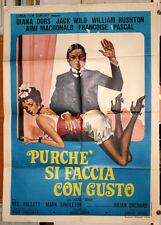 Diana Dors PURCHE' SI FACCIA CON GUSTO manifesto 2F originale 1979 punizione