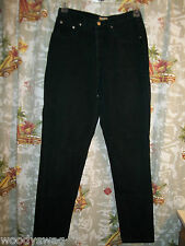 NY Line Black Jeans 100% Cotton Size 12 USA Good Condition USA made Jean
