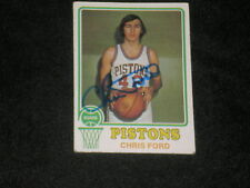CHRIS FORD 1973-74 TOPPS SIGNED AUTO CARD #79 PISTONS