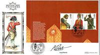 20 SEPTEMBER 2007 ARMY UNIFORMS PANE SIGNED TONY POLLARD BENHAM FIRST DAY COVER