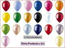 "50 Pack 5"" Inch Latex Balloons Metallic Pearl Crystal Birthday wedding Party CTI"