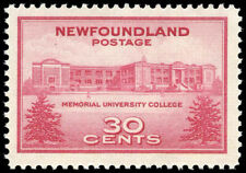 Newfoundland #267  1943 Memorial University College Commem. Mint Never Hinged