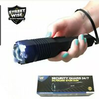 Streetwise Security Guard 24/7 STUN GUN Flashlight Holster Rechargeable Warranty