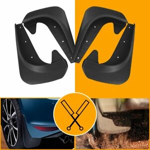 4pc/set Universal Car Mud Flaps Splash Guards for Front/Rear (Hardware Included)