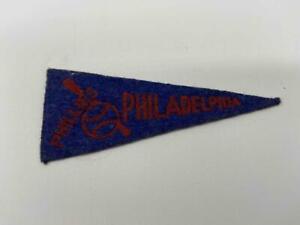 """1950's American Nut Felt Mini Pennant Philadelphia Phillies 4"""" X 1 3/4"""""""