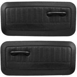 Sport Molded Door Panel Set - Black - for 1964 - 66 Chevy, GMC C/10 Truck