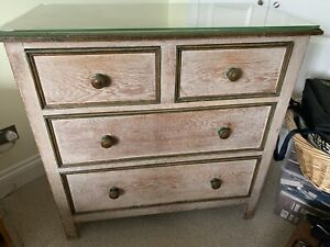 *VINTAGE* Arts And Crafts Style Chest Of Drawers Limed Oak