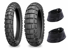 New Shinko 100/90-19 & 130/80-17 804/805 Tires & Tubes Set For BMW F650 / F650GS