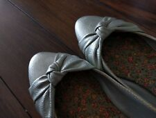 Silver shinning flats (Size 8 - Wore once)