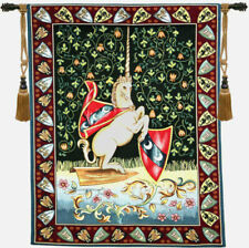 33x26inch Italian Woven Tapestry Wall Hanging Unicorn Medieval