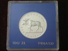 POLAND  ,, 100 '' zl.    1979      ,,ENVIRONMENTAL PROTECTION ''     ,, MOOSE ''