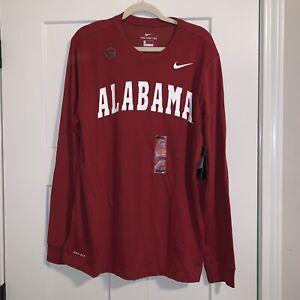 NIKE Dry Alabama Crimson Tide Football L/S Dri-fit Shirt Sz Large NWT AO6445-613