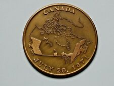 British Columbia CANADA 1871-1971 Centennial Commemorative Medal with Early Map