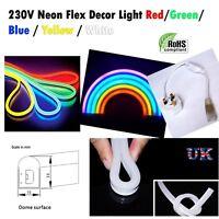 LED Strip Neon Flexible Rope Light Waterproof 220V to Indoor-Outdoor Lighting UK