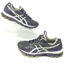 ASICS GEL-KAYANO 18 Grey Purple Lime Womens Size 6.5 US 37.5 EUR Running Shoes