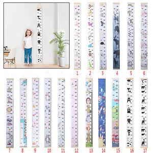 Children Kids Growth Height Chart Ruler Child Room Decor Wall Hanging Measure UK
