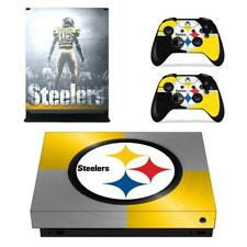 Pittsburgh Steelers NFL Xbox one X Console Vinyl Skin Decals Stickers Covers