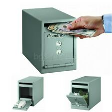 Depository Safe Money Cash Lock with Drop Slot Small Dual Key 0.23 Cubic Feet