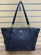 *Coach F28558 Ava Matte Black Tote PreOwned Free Shipping Buy It Now