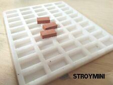 Silicone mold form for 50 miniature bricks 1:12