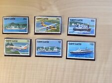 St Lucia Stamps New Watermark Complete SG 690-698. Transport
