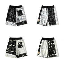 Bape Sports Men Camouflage Seaside Loose Short Pants A Bathing Ape Colorblock