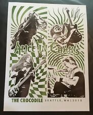 Alice In Chains Signed Poster/Secret Show@The Crocadile Cafe 8/24/18