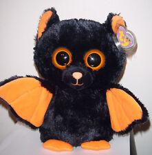 "Ty Beanie Boos ~ MIDNIGHT the 9"" Bat ~ MWMTs (Medium)(Solid Eye Color) Plush NEW"