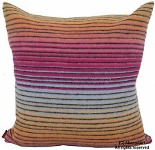 """MISSONI HOME CUSHION COVER DIONISIO T57 80% LAMBSWOOL 20% CASHMERE 16x16"""""""