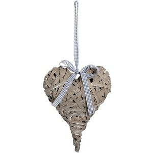 Washed Grey Woven Hanging Heart - Style My Pad