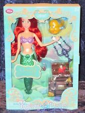 """Disney 11"""" Princess Ariel Deluxe Singing Doll Set with Flounder NEW!"""