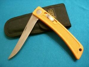 NM VINTAGE GERBER USA BOLT ACTION FISHERMAN LOCKBACK FOLDING FILET KNIFE KNIVES