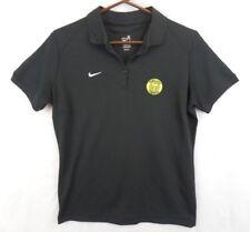 NIKE Womens Timbers Pre MLS Black Polo Shirt sz M Soccer Vtg