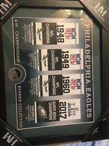 "PHILADELPHIA EAGLES HIGHLAND MINT SUPER BOWL LII CHAMPs 12"" X 15"" COIN PHOTO"