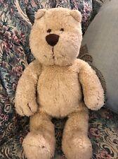 "Baby GAP Brown Tan Teddy Bear Plush Animal 13"" Curly Fur Sewn Eyes BRANNAN #C2"