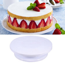 NEW Round 11 Rotating Cake Plate Decor Turntable Revolving Kitchen Display Stand