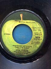 JOHN LENNON Whatever Gets You Thru The Night Beef Jerky 45 Apple 1874