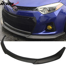 Fits 14-16 Toyota Corolla Type S GT Front Bumper Lip Chin Spoiler - PU Urethane