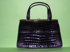 borsa vintage vero coccodrillo cocco bidente borsetta bag anni 80 Calbert vintag