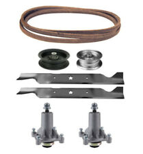 "Sears YS 4500 46"" Lawn Mower Deck Parts Rebuild Kit Spindles Blades Belt Pulleys"