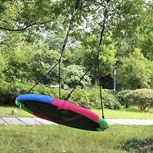 40'' Kids Outdoor Playground Hanging Rope Tree Swing Seat Set Yard Toys