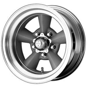 "American Racing Torq Thrust 15x7 5x4.75"" -6mm Silver Wheel Rim 15"" Inch"