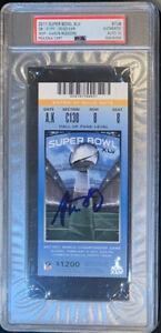 Aaron Rodgers Autographed Green Bay Super Bowl XLV 45 Super Bowl Ticket PSA 10