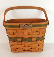 "Longaberger Handmade Holiday Memory Basket Signed 1989 Christmas Collection 9""W"