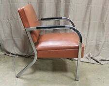 Vintage Industrial MCM Royal Metal Corp Stylish Arm Chair Chrome & Vinyl