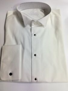 New White Marcella Cotton Shirt Wing Collar High Quality 100% Cotton CLEARENCE