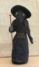"Plague Doctor 10"" fabric doll sewing pattern.  Historical art doll pattern"