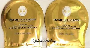 2x Pair PETER THOMAS ROTH 24K GOLD Pure Luxury Lift Firm Hydra-Gel Eye Patches