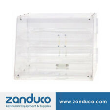 Acrylic Display Case with 3 Trays and Rear Doors