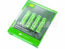 GP Recyko+ AAA 1000 Rechargeable PreCharged LSD NiMH 1.2v Battery x4+CASE
